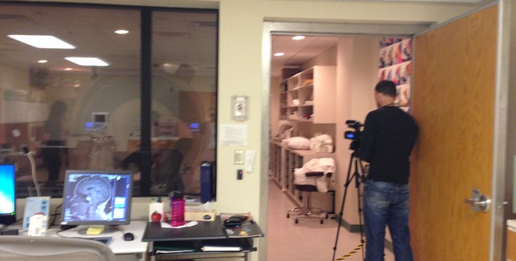 Filming our study about dancers' brains: MRI room